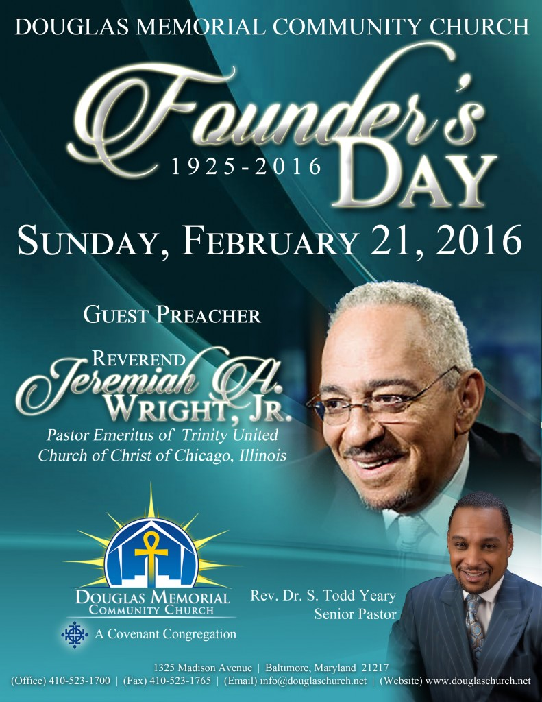 Flyer - 2016 Founders Day